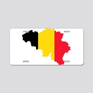 Belgium Flag and Map Aluminum License Plate