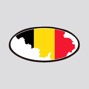 Belgium Flag and Map Patches