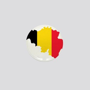 Belgium Flag and Map Mini Button