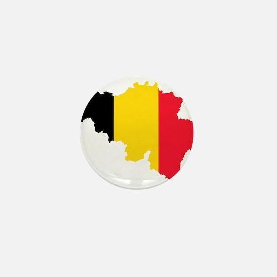 Belgium Flag and Map Mini Button