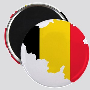Belgium Flag and Map Magnet