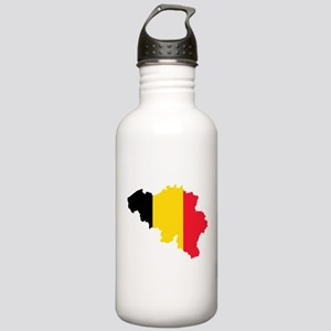 Belgium Flag and Map Stainless Water Bottle 1.0L