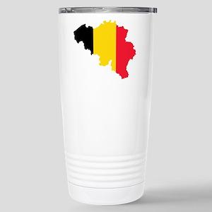 Belgium Flag and Map Stainless Steel Travel Mug