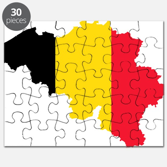 Belgium Flag and Map Puzzle