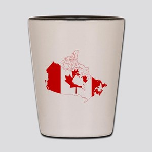 Canada Flag and Map Shot Glass