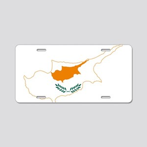 Cyprus Flag and Map Aluminum License Plate