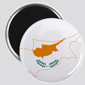 Cyprus Flag and Map Magnet