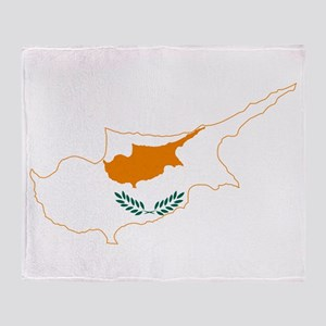 Cyprus Flag and Map Throw Blanket
