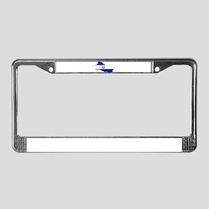 El Salvador Flag and Map License Plate Frame