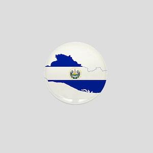 El Salvador Flag and Map Mini Button