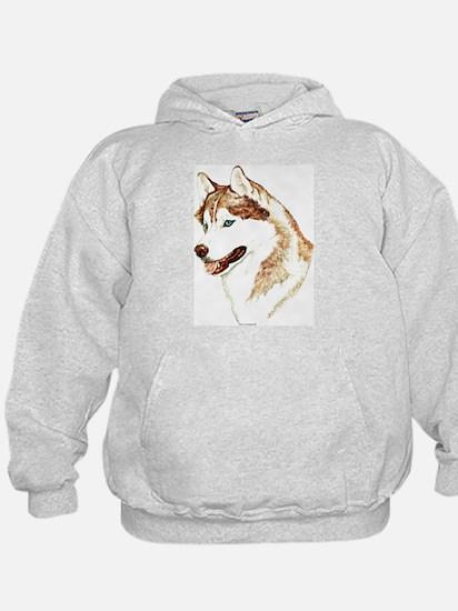 Siberian Husky Portrait Hoodie