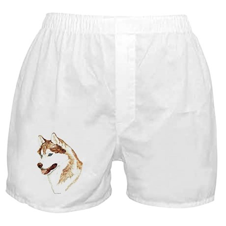 Siberian Husky Portrait Boxer Shorts