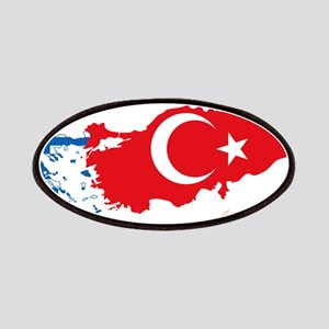 Greece Turkey Cyprus Flag and Map Patches