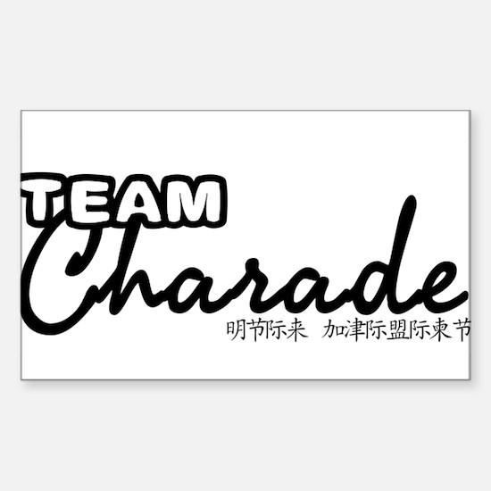 TEAM-CHARADE-DESIGN Sticker (Rectangle)