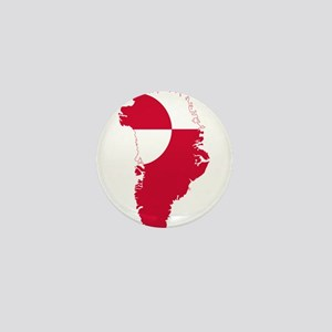 Greenland Flag and Map Mini Button