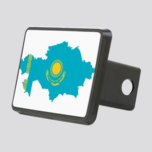 Kazakhstan Flag and Map Rectangular Hitch Cover