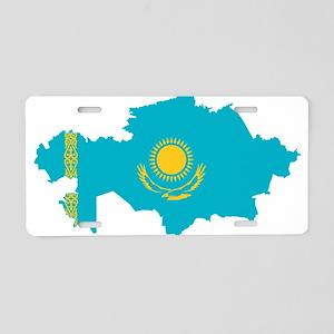 Kazakhstan Flag and Map Aluminum License Plate