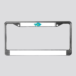 Kazakhstan Flag and Map License Plate Frame