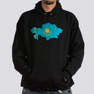 Kazakhstan Flag and Map Hoodie (dark)