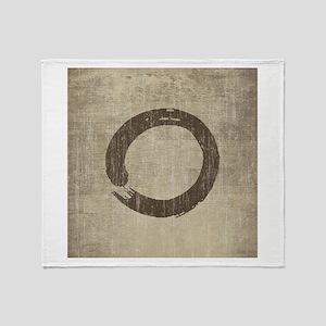 Vintage Enso Symbol Throw Blanket
