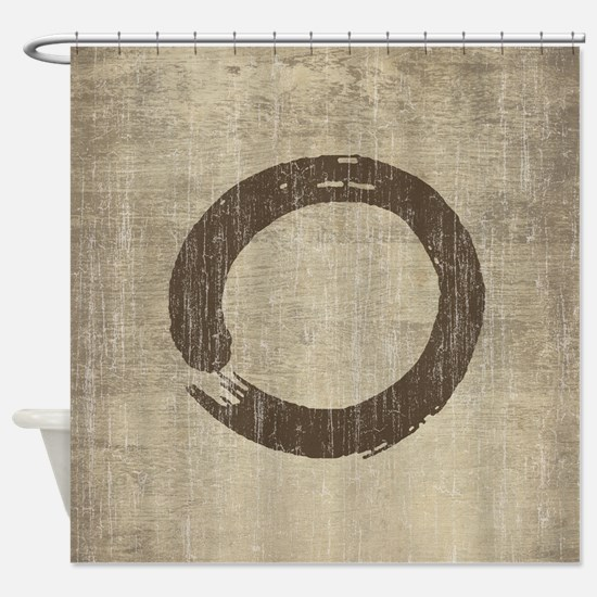 Vintage Enso Symbol Shower Curtain