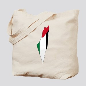 Palestine Flag and Map Tote Bag