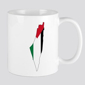 Palestine Flag and Map Mug