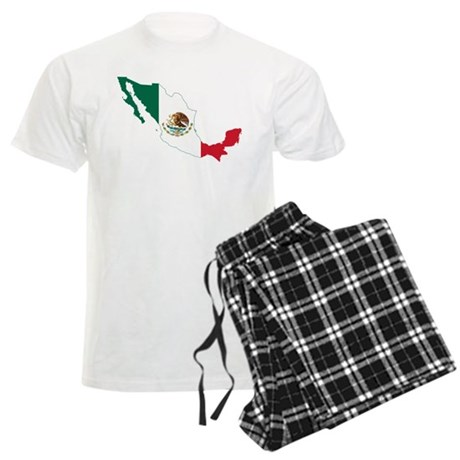 Mexico Flag and Map Men's Light Pajamas