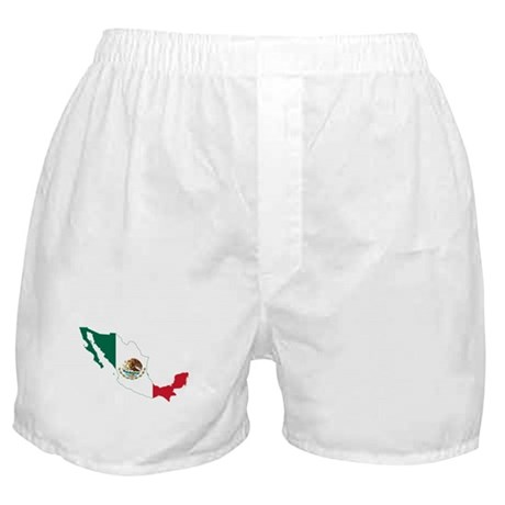 Mexico Flag and Map Boxer Shorts