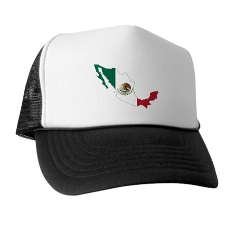 Mexico Flag and Map Trucker Hat
