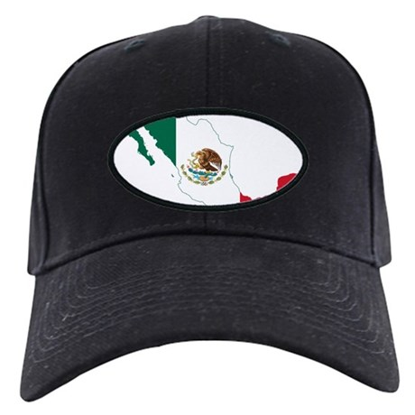 Mexico Flag and Map Black Cap
