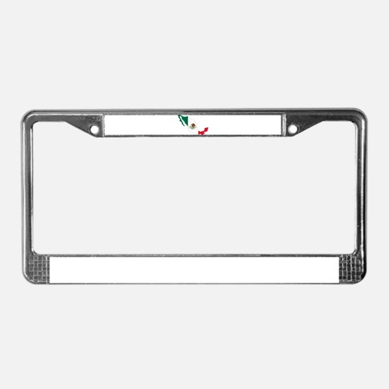 Mexico Flag and Map License Plate Frame