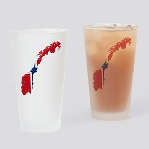 Norway Flag and Map Drinking Glass
