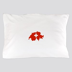 Switzerland Flag and Map Pillow Case