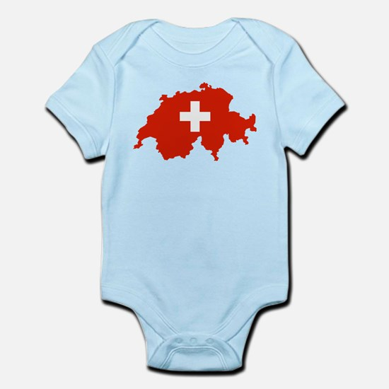Switzerland Flag and Map Infant Bodysuit