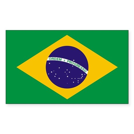 Brazil Sticker (Rectangle)