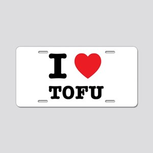 I Heart Tofu Aluminum License Plate
