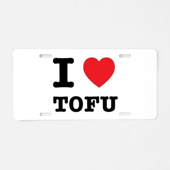 I Heart Tofu Aluminum License Plate