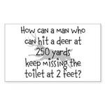 Toilet Hunter Sticker (Rectangle 50 pk)