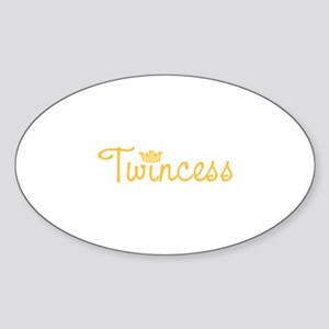 Twincess Sticker (Oval)