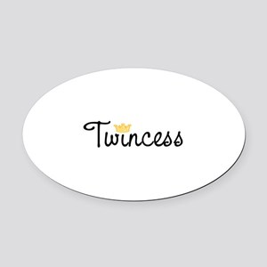 Twincess Oval Car Magnet