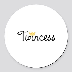 Twincess Round Car Magnet