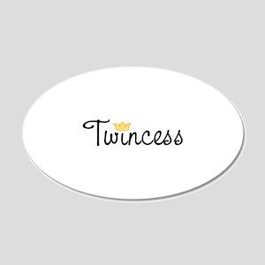 Twincess 22x14 Oval Wall Peel
