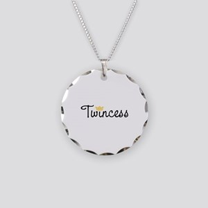 Twincess Necklace Circle Charm