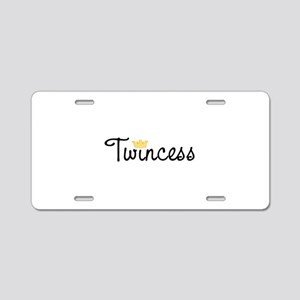 Twincess Aluminum License Plate