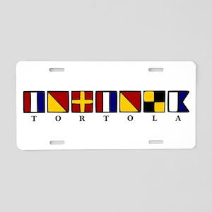 Nautical Tortola Aluminum License Plate