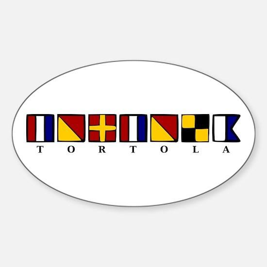 Nautical Tortola Sticker (Oval)