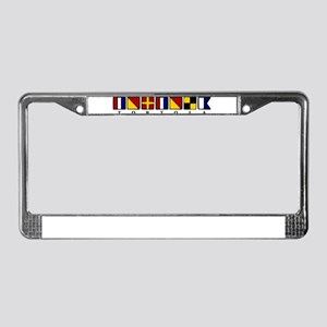 Nautical Tortola License Plate Frame