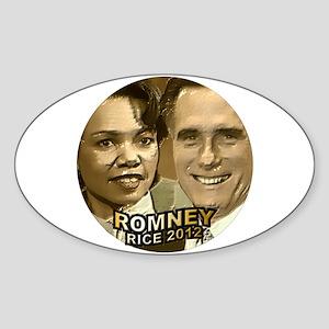 Romney Rice 2012 Sticker (Oval)