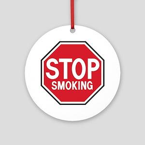 Stop Smoking Ornament (Round)